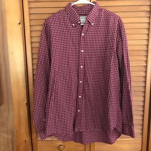 J.Crew Red Plaid Button Down